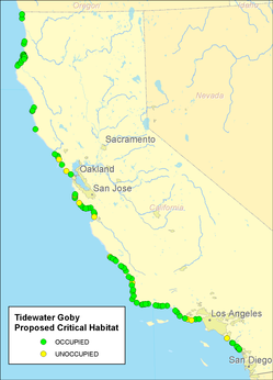Tidewater Goby Proposed Critical Habitat (NRDC 2011)