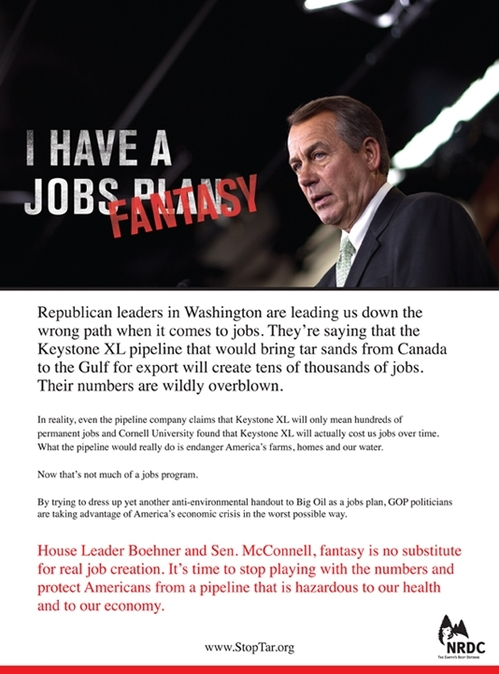 Advertisement in Politico, December 15, 2011