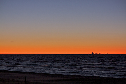 Lake Michigan Sunset image by Anne Swoboda via Flickr