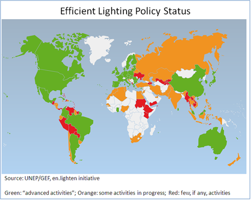 UNEP-GEF Lighting Policy Map.PNG