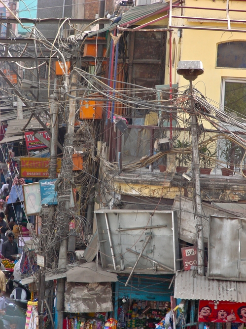 Delhi Electric Wires Close up