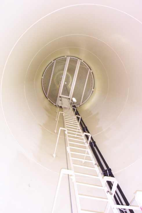 If you're curious what the inside of a wind tower looks like