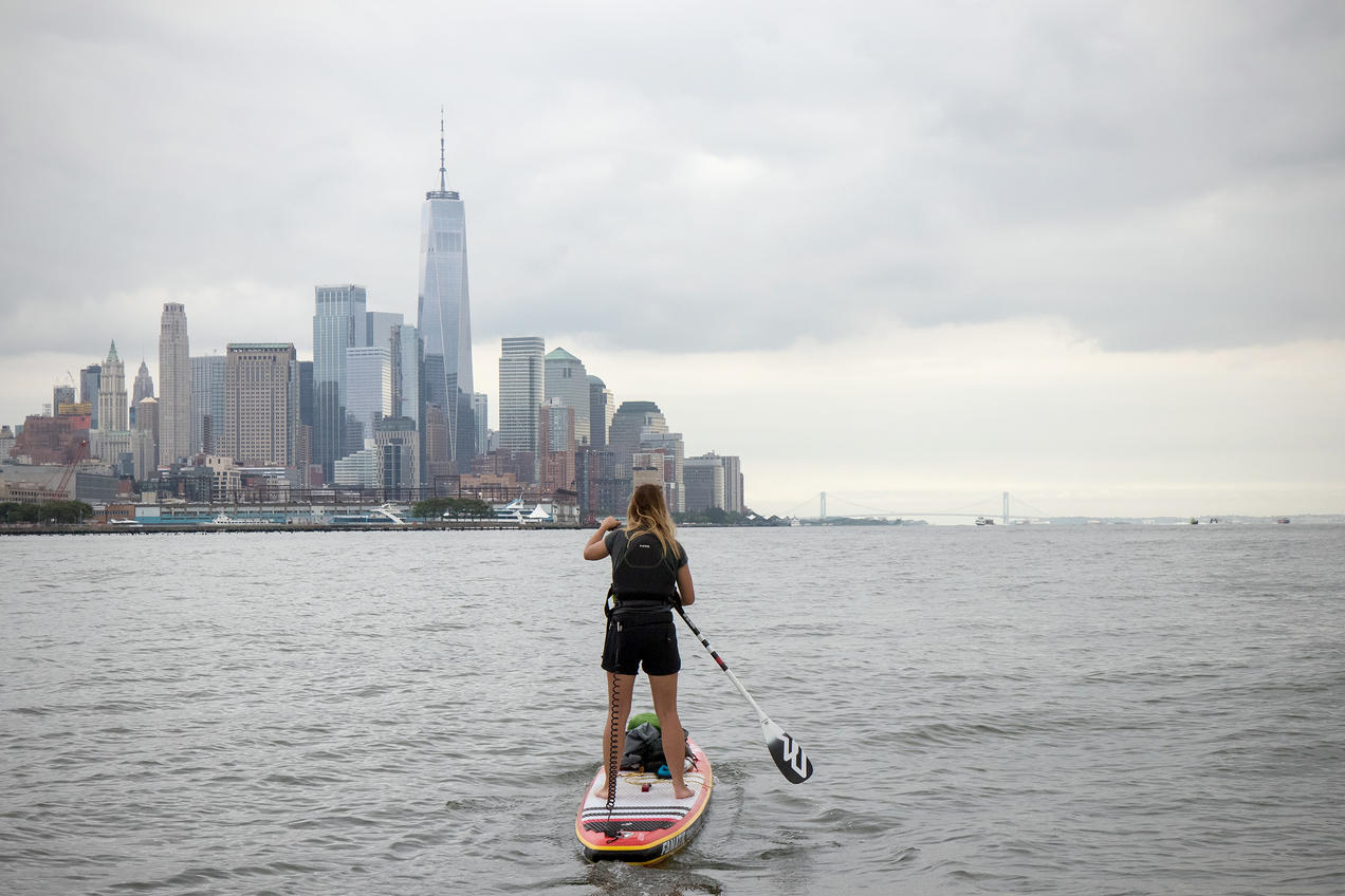 Stand Up Paddleboarding Suddenly Goes >> Her Stand Up Paddleboard Is A Platform For Campaigning Against