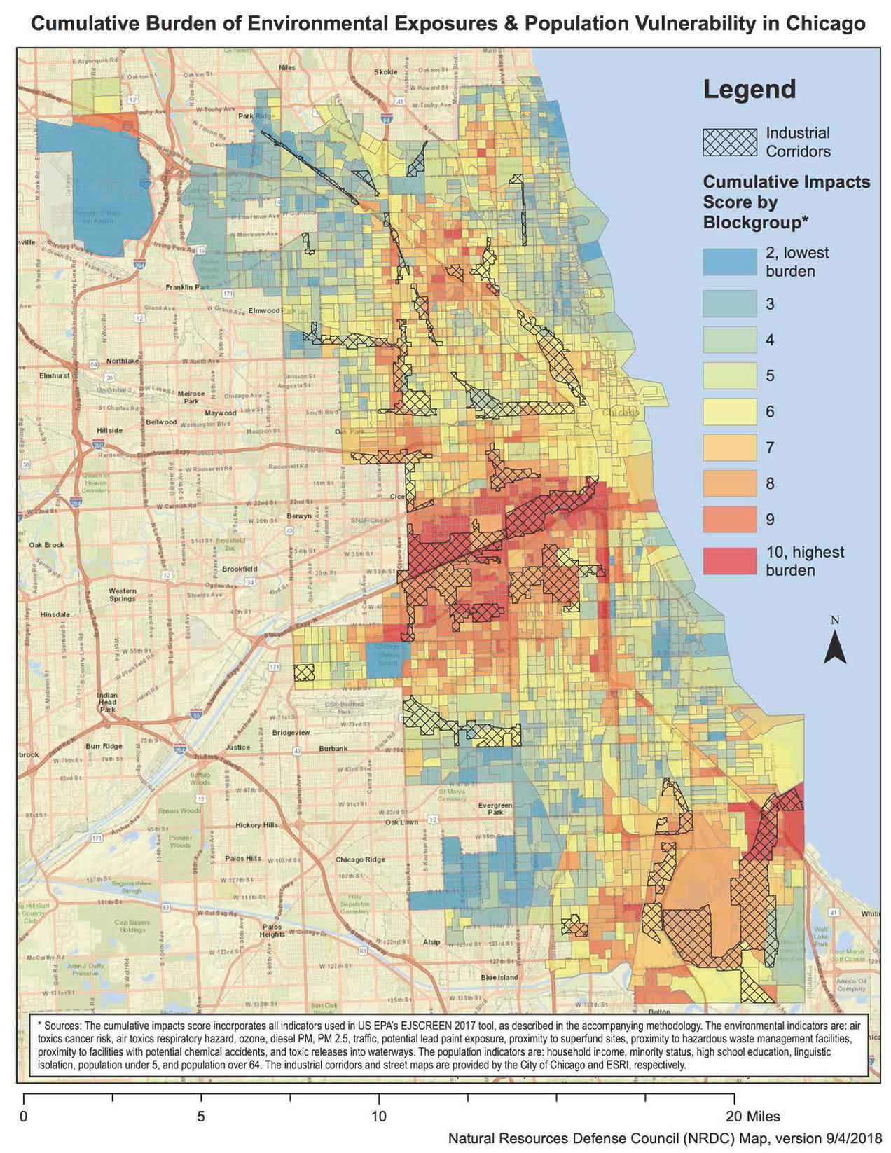 New Map Shows Chicago Needs Environmental Justice Reforms | NRDC Chicago On Map on