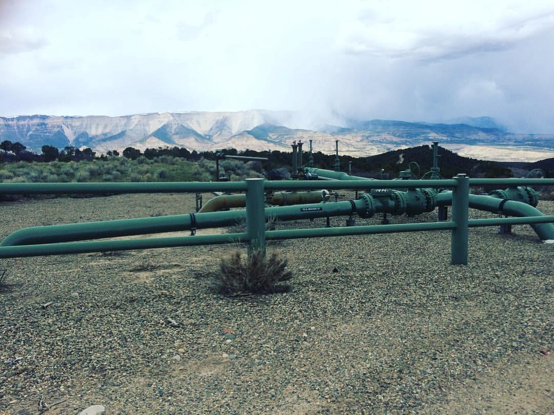Natural gas infrastructure in Rifle, CO