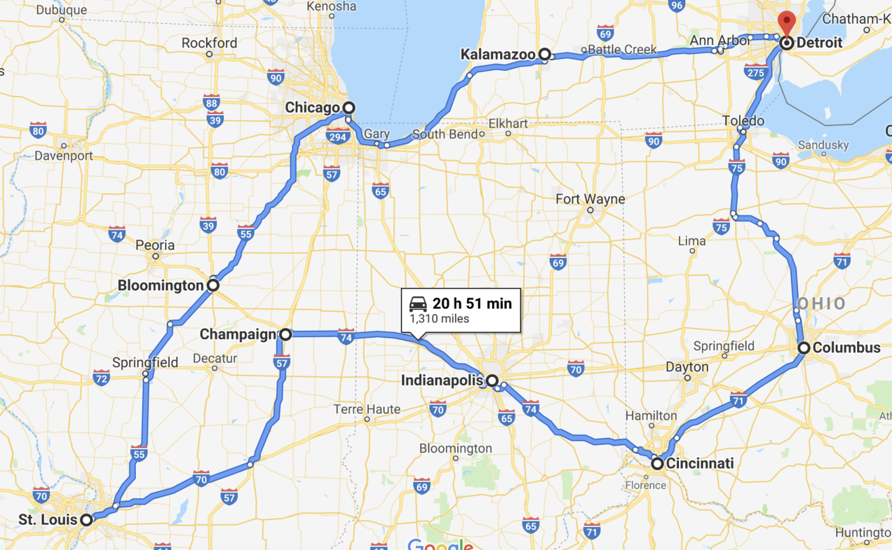 Driving (on) Clean Energy: Touring the Midwest in an EV | NRDC on make a united states map, make my own driving map, make a wedding map, make a checklist, make a flight map,