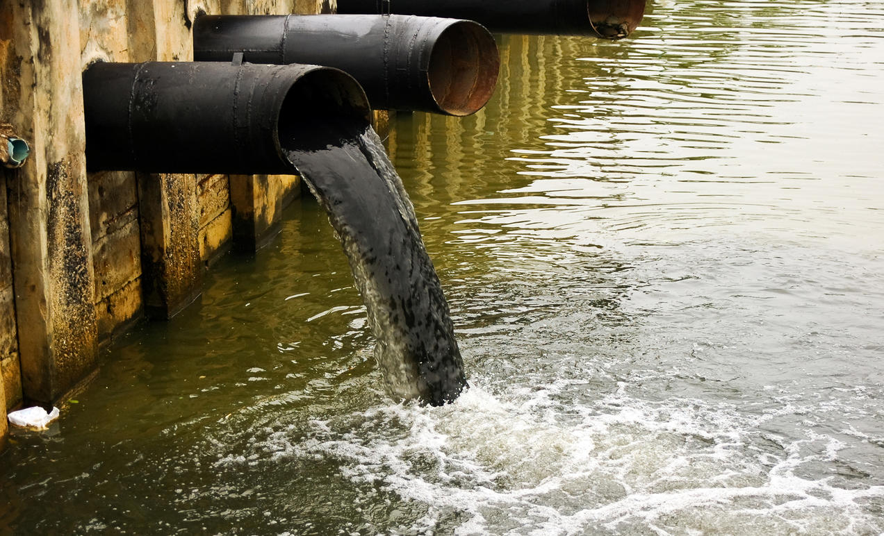 What produces water pollution 96