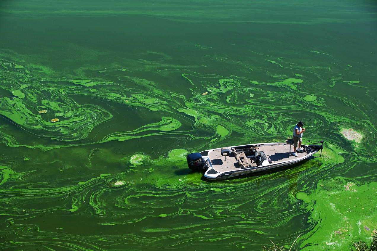 What produces water pollution 15