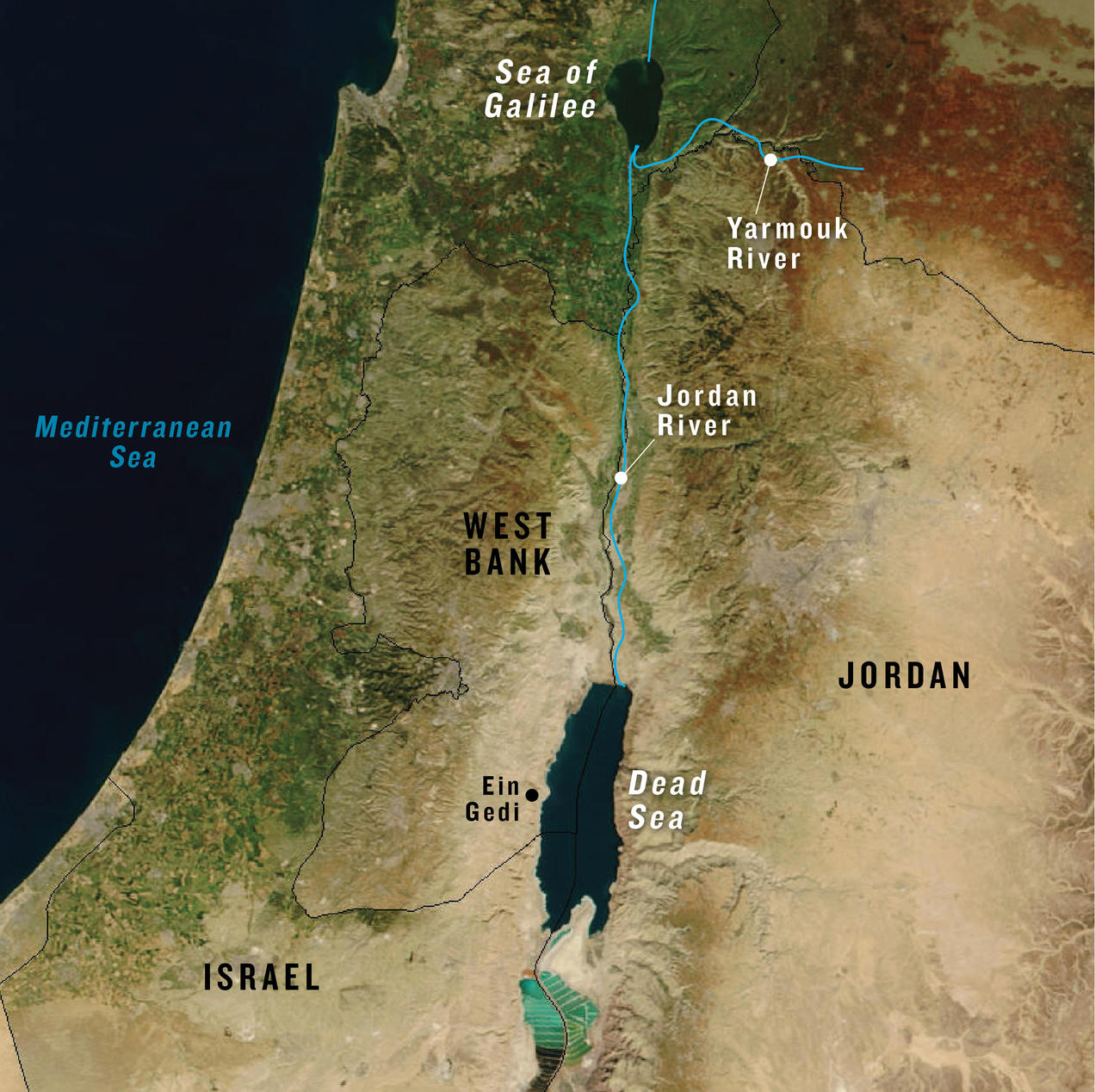 The Dead Sea Map Could Water from the Red Sea Help Revive the Dead Sea? | NRDC The Dead Sea Map