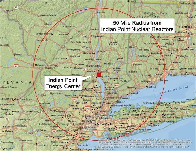 Indian Point Energy Center Location Map