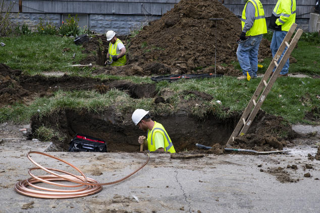 Pipe replacement in Flint, Michigan