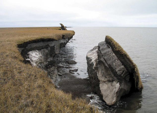 Climate change is causing Arctic permafrost to thaw, eroding our northern coasts in places like Drew Point, Alaska