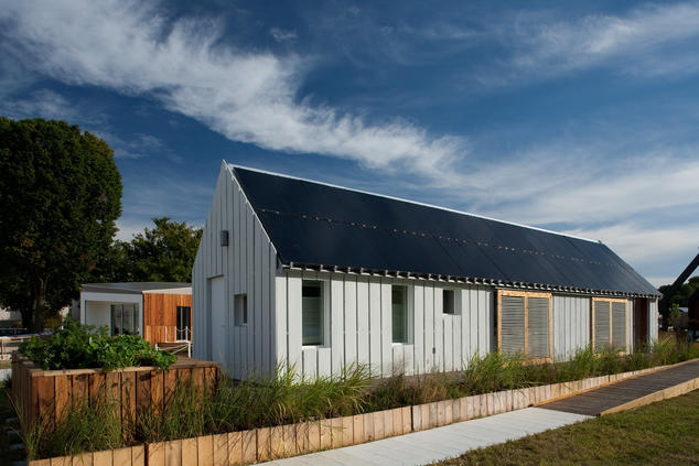 Solar-powered home built by a team from the University of Illinois