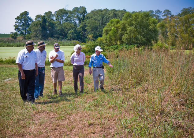 Farmers & Conservationists Touring Watershed Protection Practices on Farm