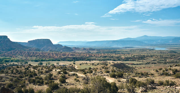 Landscape panorama of Abiquiu in New Mexico