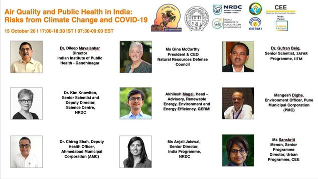 Air Quality and Public Health in India: Risks from Climate Change and COVID-19