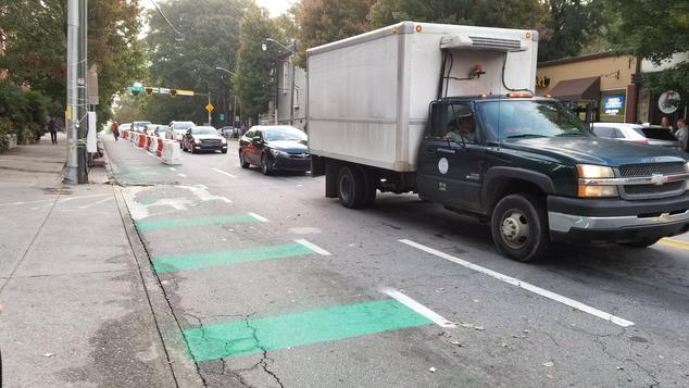 image of Atlanta bike lane