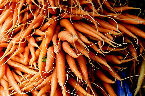pile of carrots from farmers market
