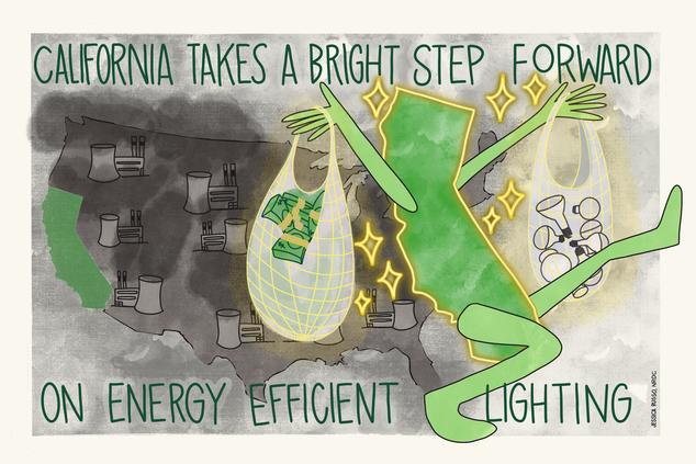 CA Leading on Light Bulb Efficiency representation