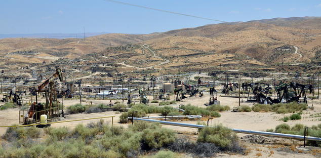 California oil well field
