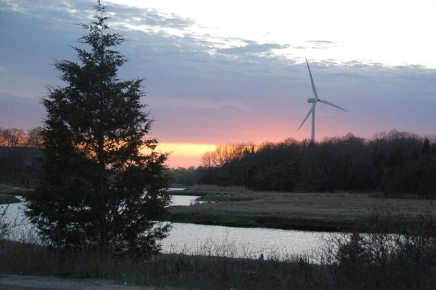 Wind turbine in Massachusetts