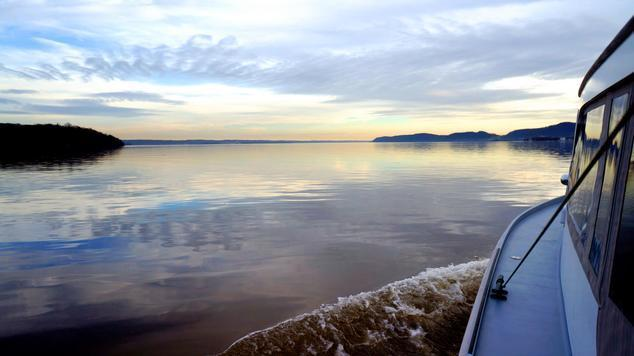 The Hudson River at Haverstraw Bay Credit: R. Friedman