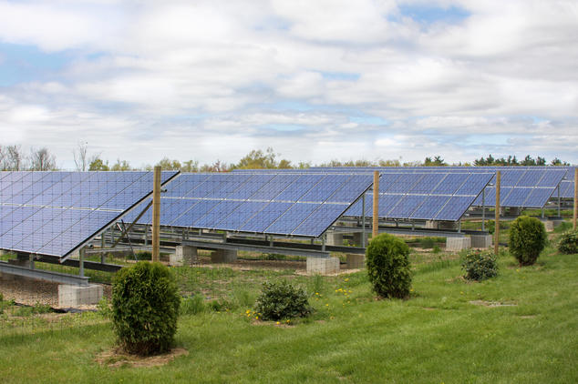 Solar farm in Massachusetts