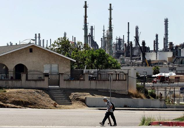 ConocoPhillips refinery in the Wilmington district of Los Angeles