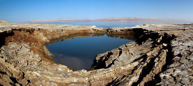 A sinkhole in the Dead Sea