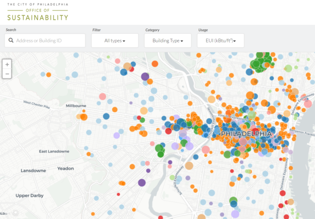Philadephia Benchmarked Buildings Map