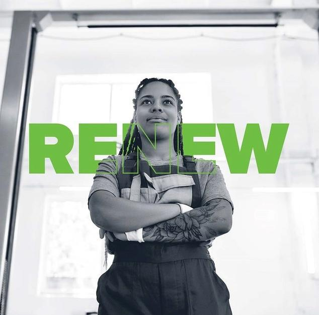 Image of person in Charlotte's workforce development program, RENEW.