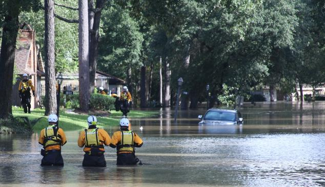 Search and rescue crews looking for Hurricane Harvey survivors