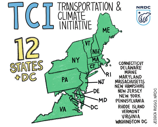 Map of the 12 TCI States and D.C.