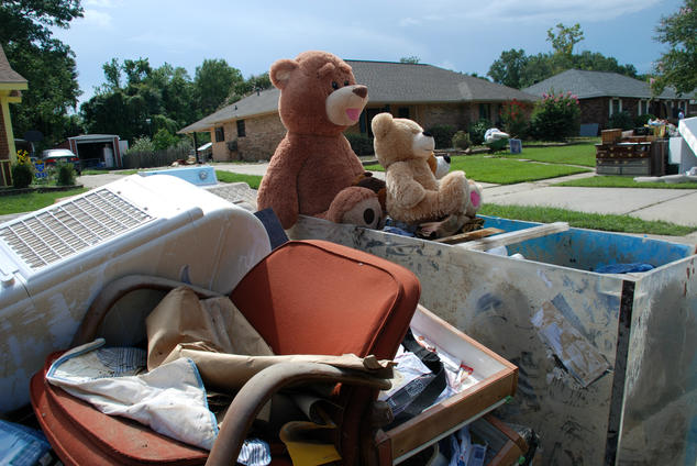 personal belongings damaged by flooding in Louisiana