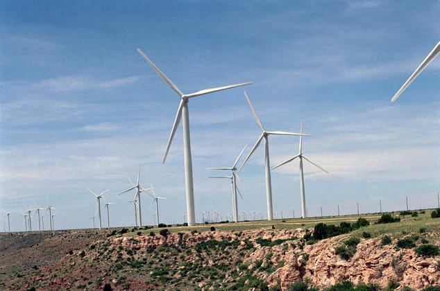 Utility scale wind turbines in New Mexico