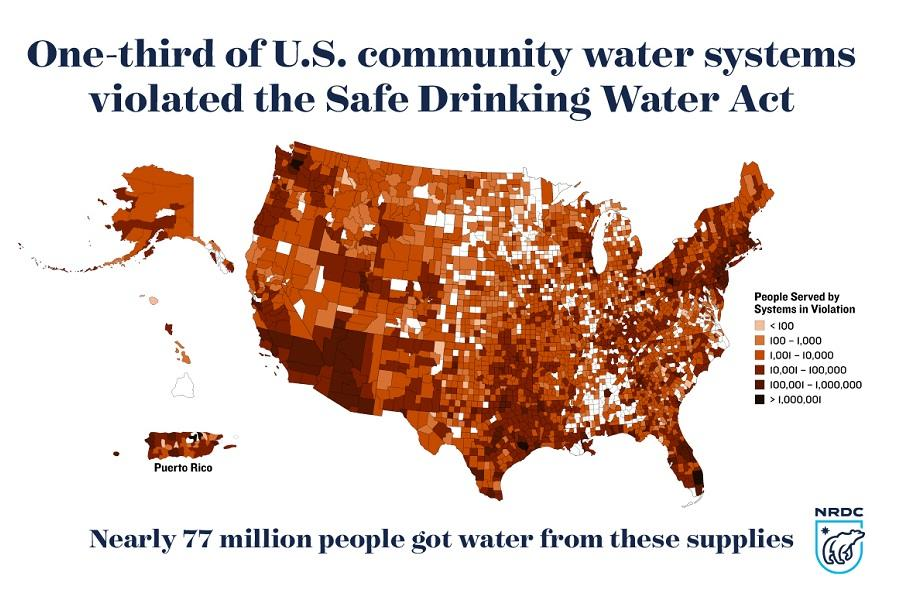 Nrdc Drinking Water Map