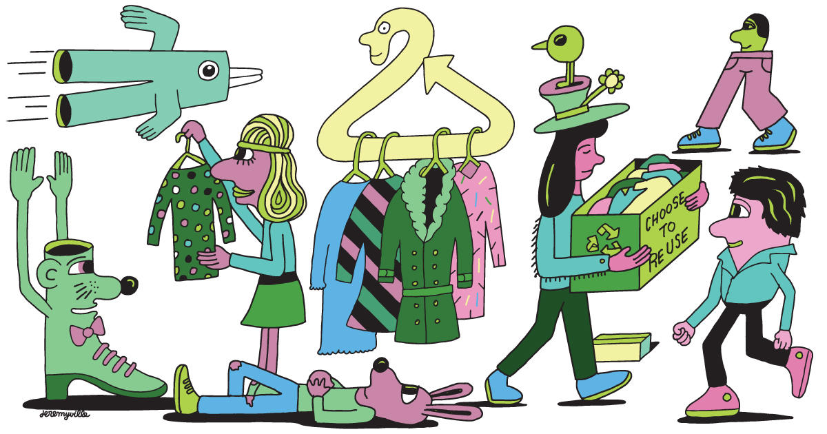Purging Your Closets? Don't Stuff All Your Old Duds Into a Trash Bag.