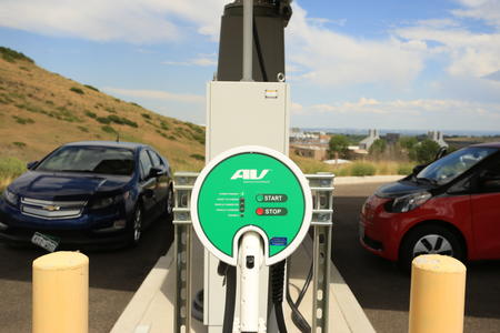 Electric vehicles at the Vehicle Testing & Integration Facility.