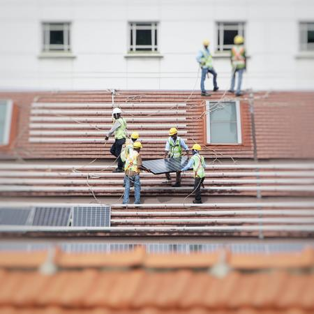 Solar Workers on Roof