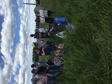 Rancher teaching about soil health in Montana