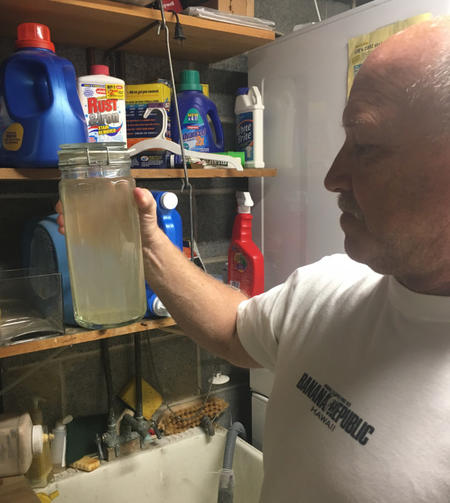 Drinking water in Pennsylvania after the local aquifer was punctured by drilling for the planned Mariner East 2 pipeline