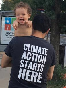 parent and child acting on climate